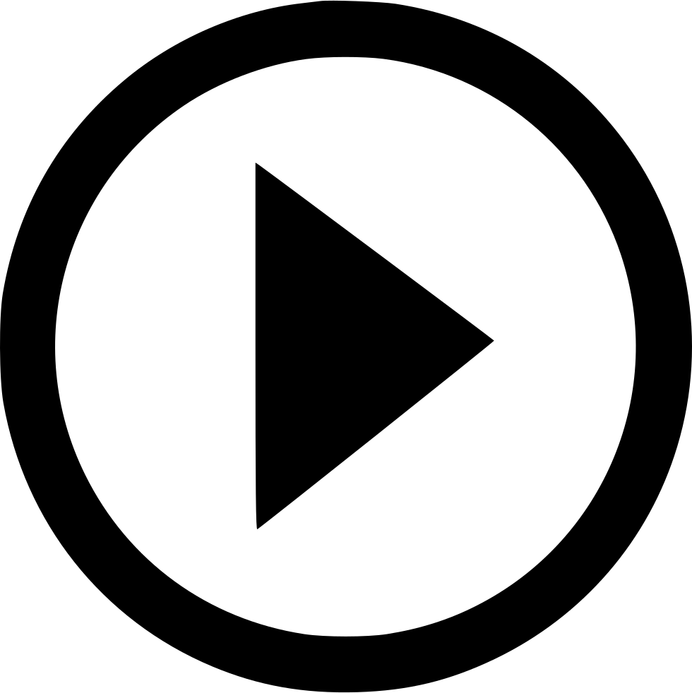 White video icon png. Music play function svg