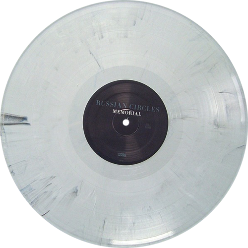 White vinyl record png. Russian circles memorial colored