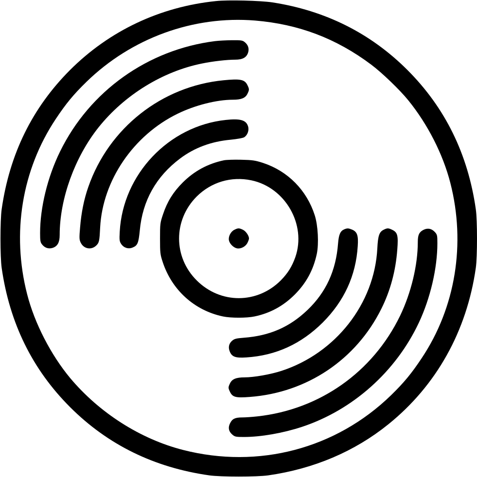 White vinyl record png. Svg icon free download
