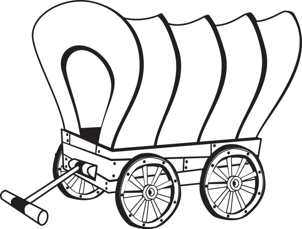 White wagon. Covered clipart free download