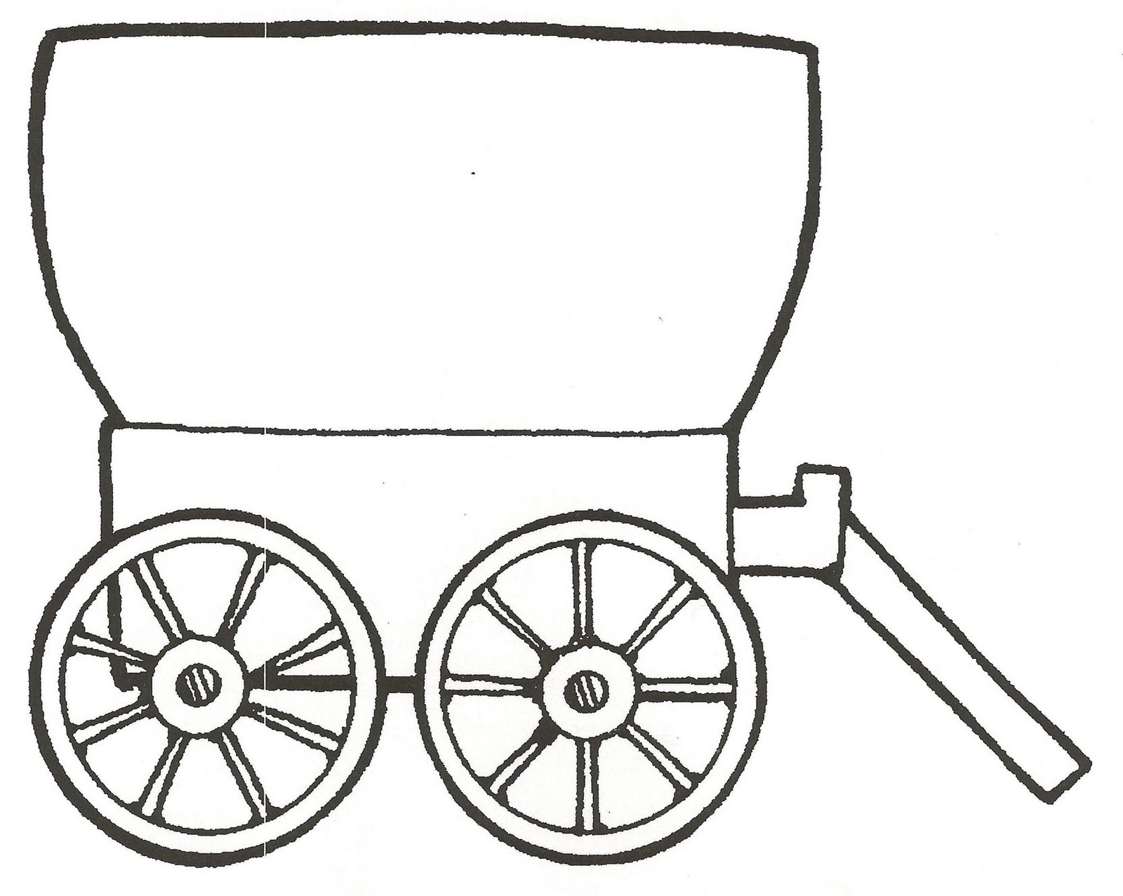 White wagon. Free covered cliparts download
