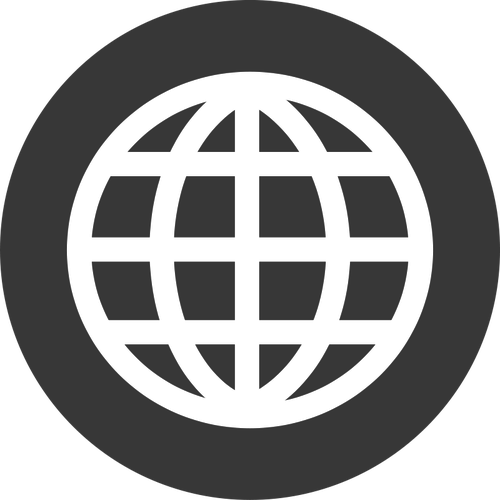 White website icon png. Image a court of