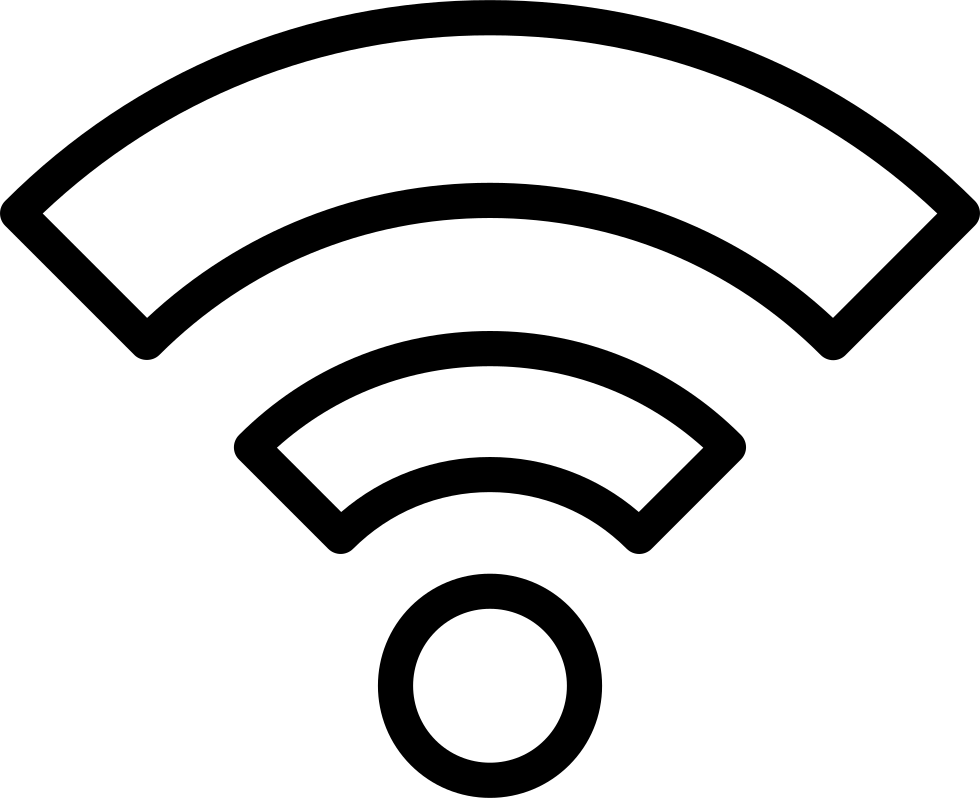 White wifi icon png. Outline symbol in a