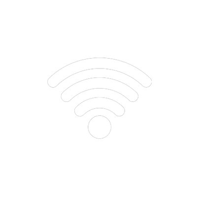 WiFi Logo Black and White transparent PNG