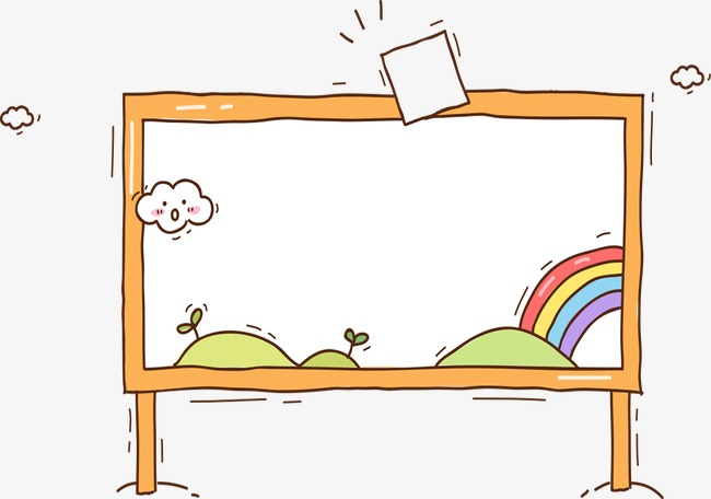 Whiteboard clipart. Cartoon png image and