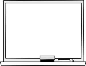 Whiteboard clipart. Black and white letters