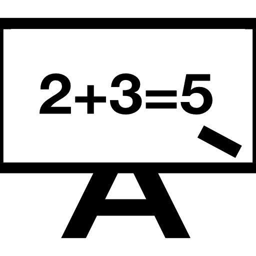 Whiteboard vector back to school. Maths icons free download