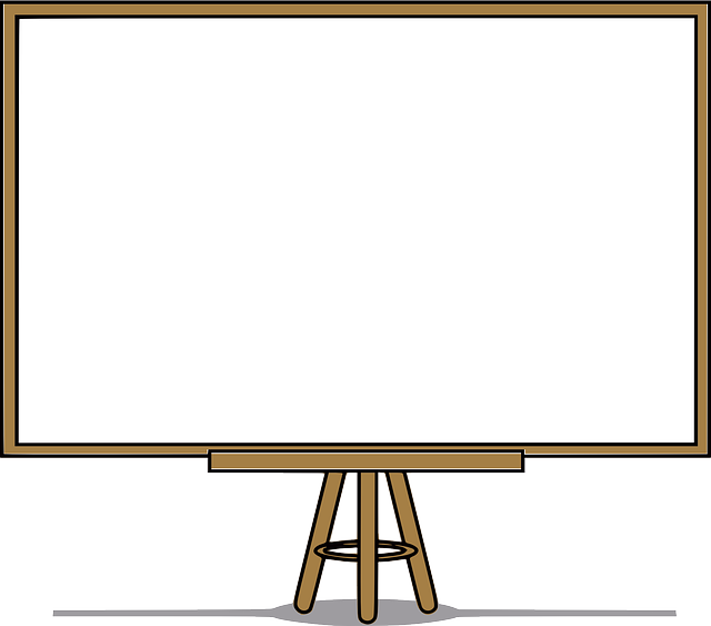 Whiteboard vector blank. Photo by clker free
