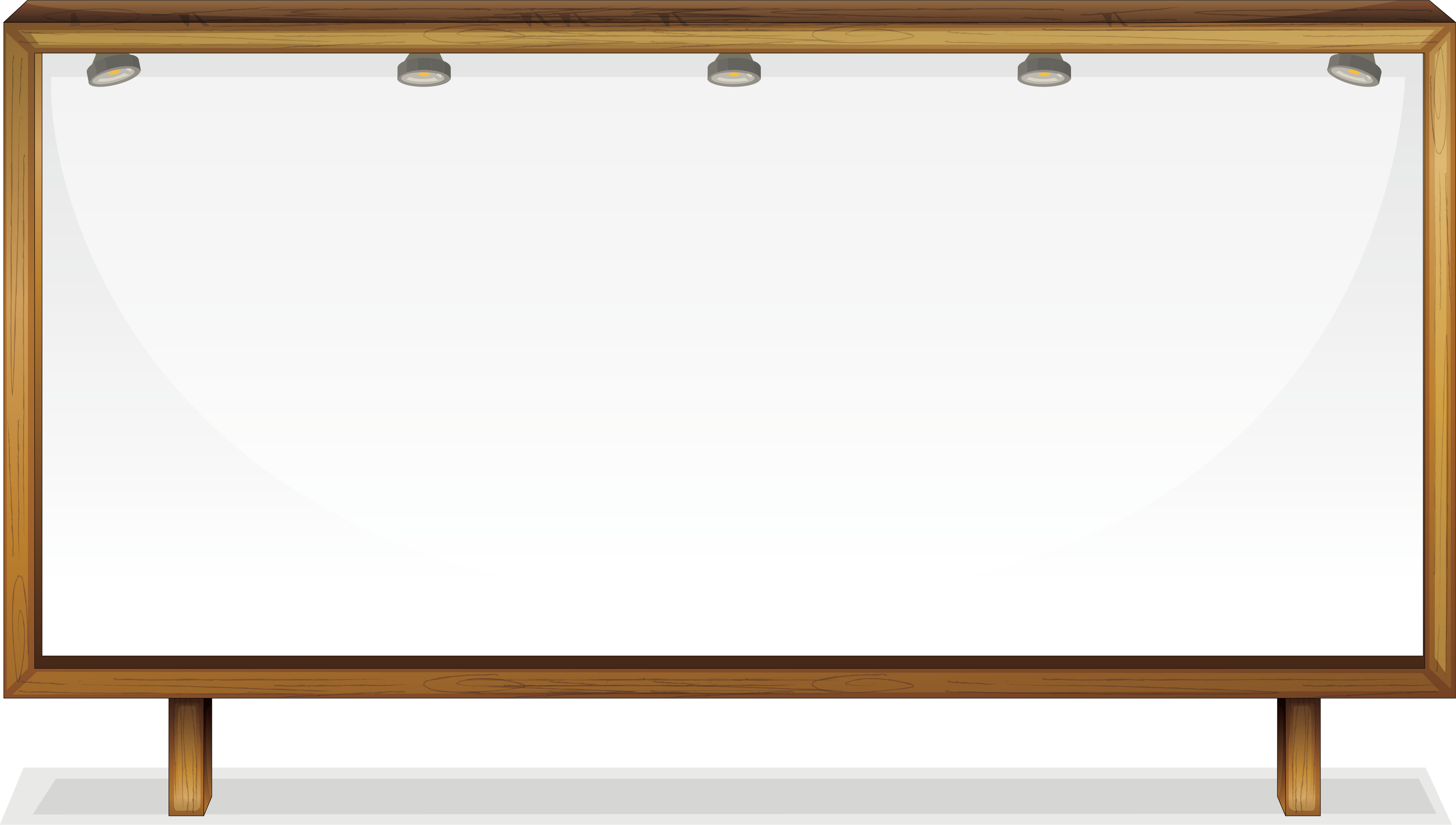 Whiteboard vector frame png. Angle picture lights under