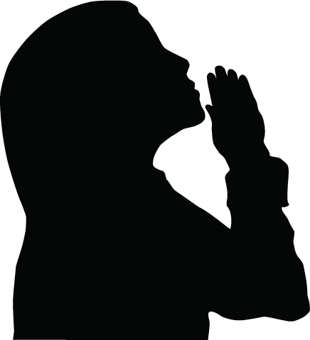 Whole body crossed arms silhouette image png. Girl praying clipart vinyl