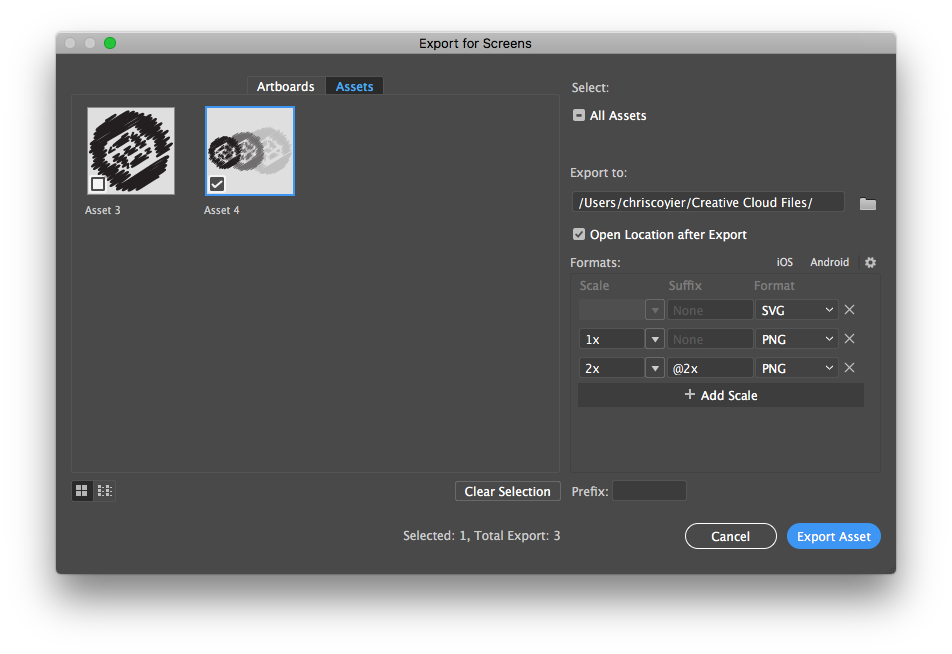 Why is there no png option in photoshop. Exporting images multiple resolutions