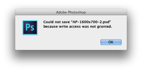 Why won't photoshop let me save as a png. Ps cc error message