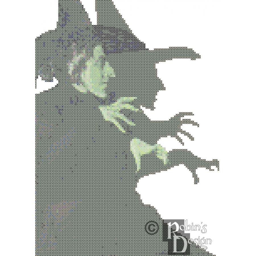 Wicked witch of the west png. Cross stitch pattern pdf