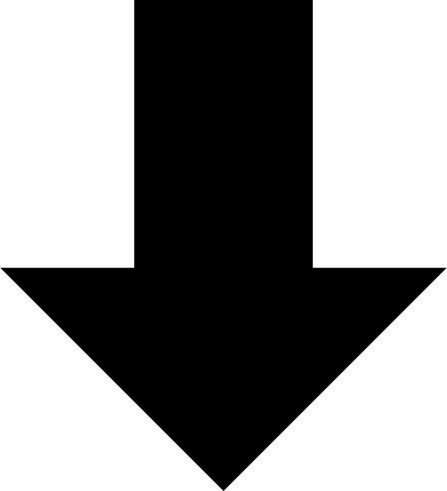 Wide arrow png. Down svg icon free