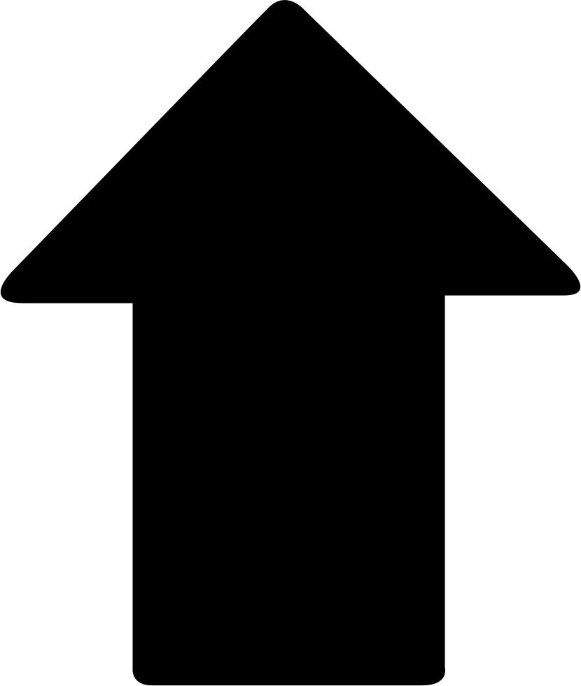 Wide arrow png. Up svg icon free