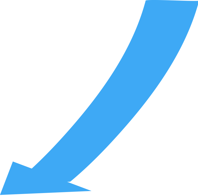 Wide arrow png. Free curved image download