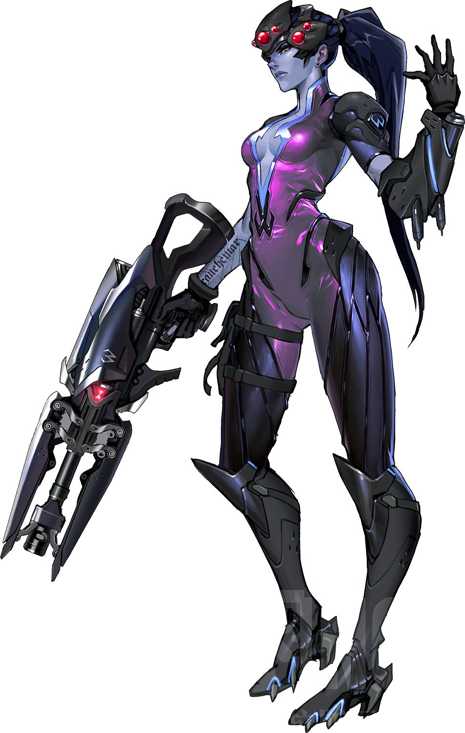 widowmaker minalistic png