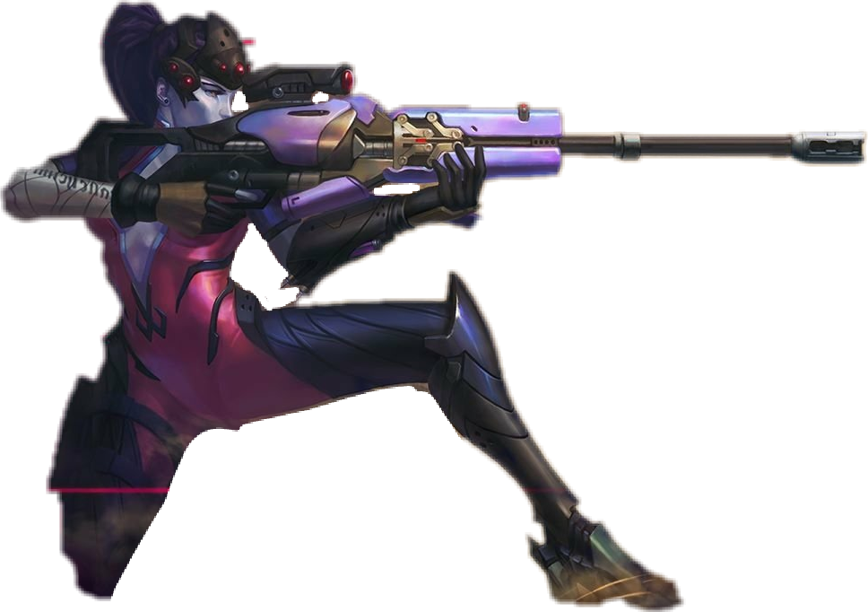 Widowmaker sniping png. Overwatch sticker by kikname
