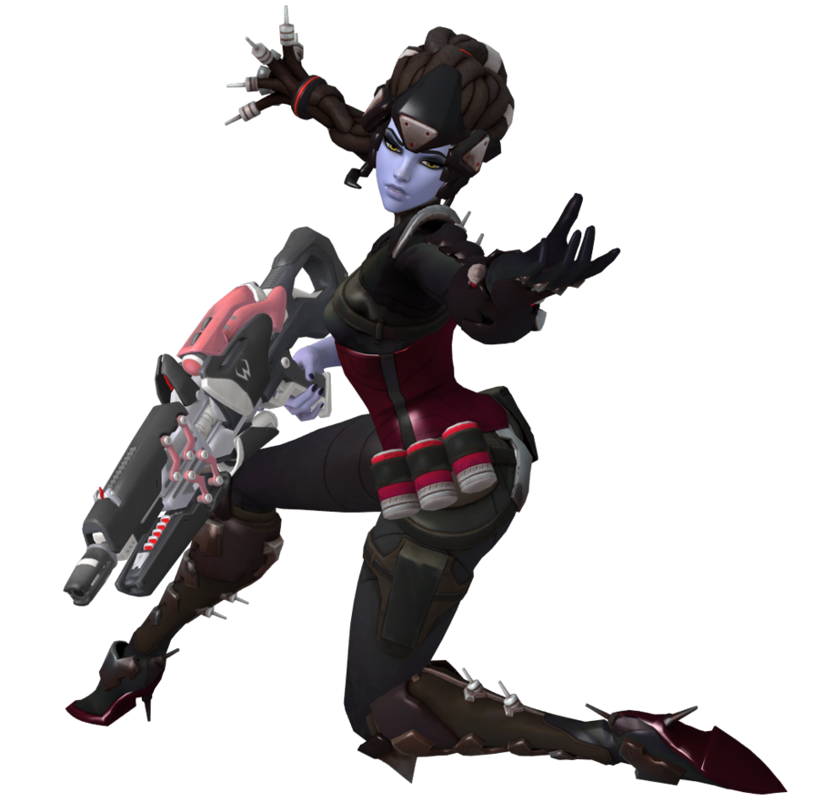 Widowmaker png overwatch. Noire reloading pose pack