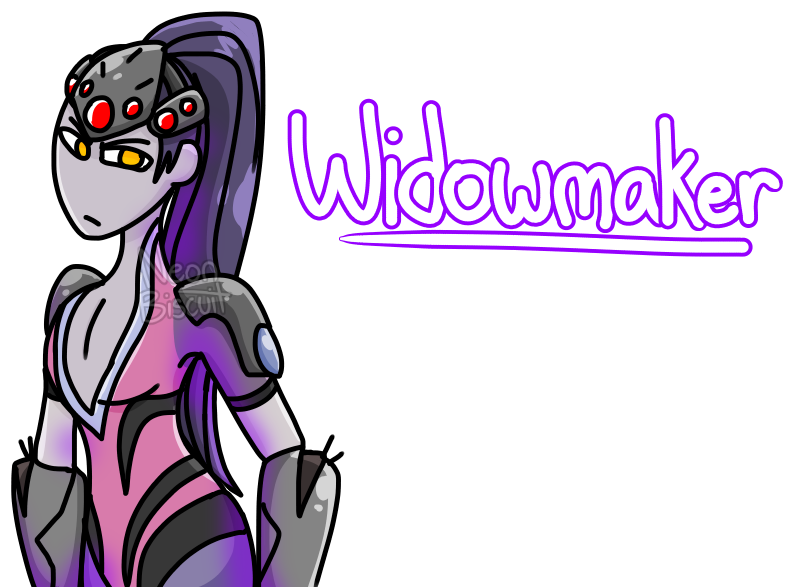Biscuit drawing. Widowmaker by neon on