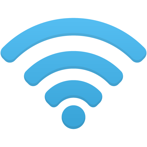 Wifi transparent background. Icon blue png image