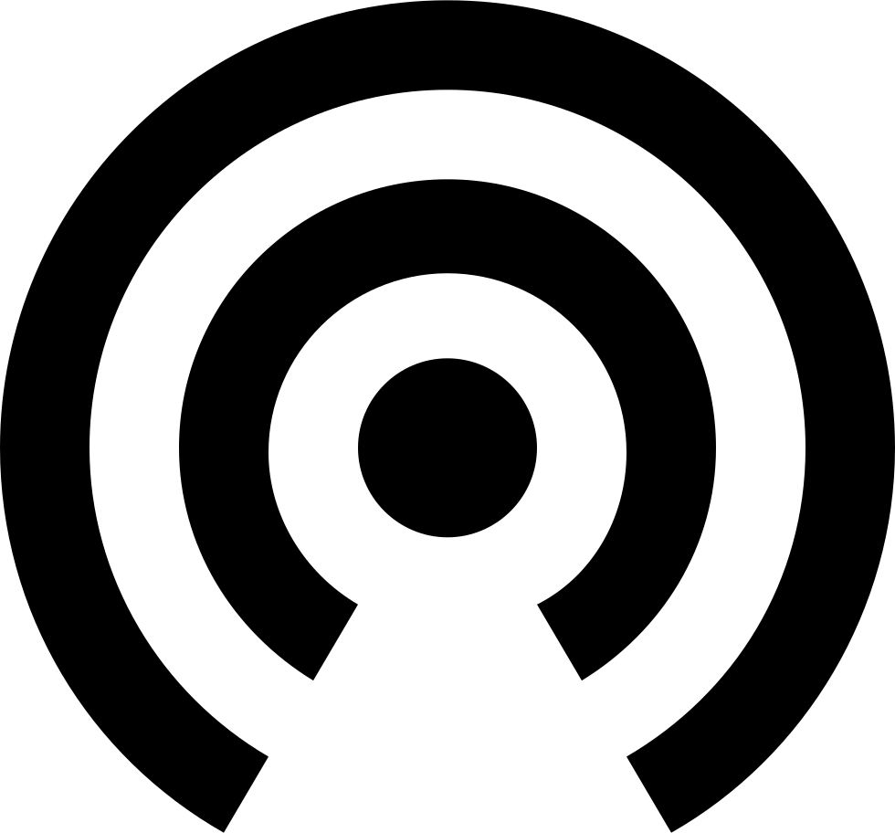 Wifi waves png. Signal svg icon free