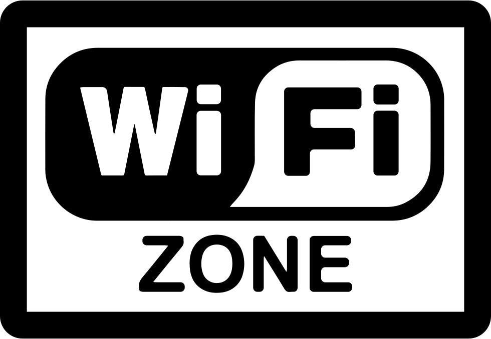 Wifi zone png. Rectangular signal svg icon