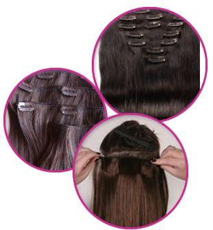 extension clip wig