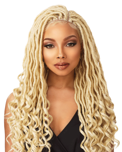 Wig clip side part. Sensationnel goddess locs cloud