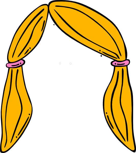 Wig clipart. Blonde clip art library