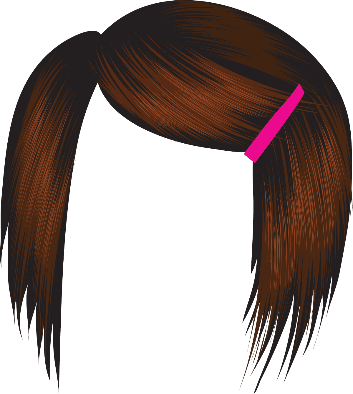 Wig clip different style. Free hair cliparts download