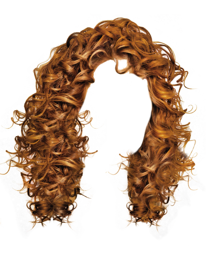 brown curly hair png