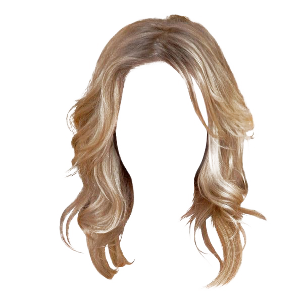 Wig transparent background png. Hairstyle barrette women hair