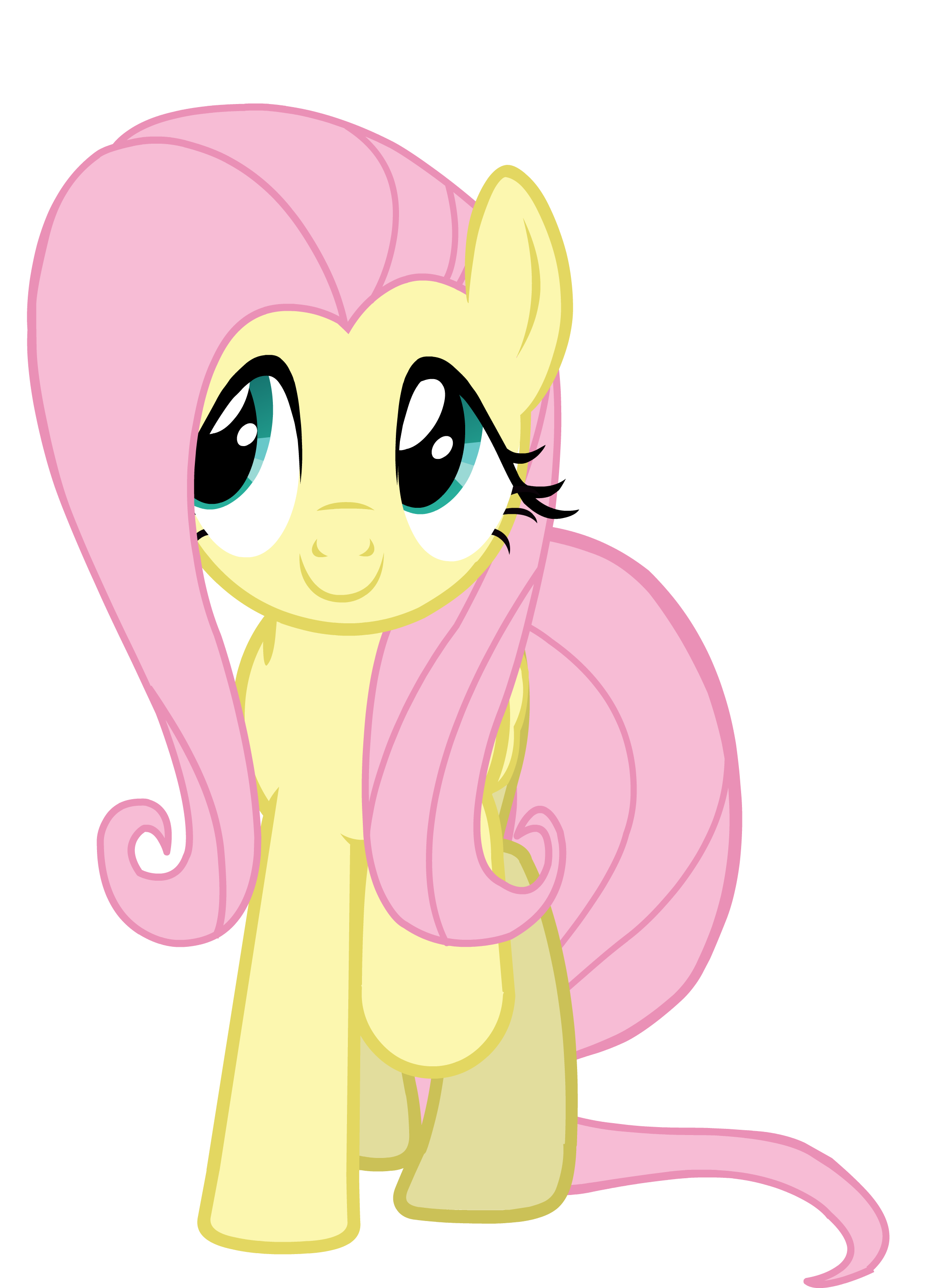 Wig vector hair mlp. Fluttershy smile parade with