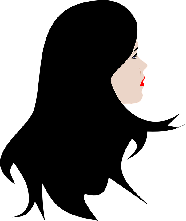 Wig vector silhouette. Afro png library
