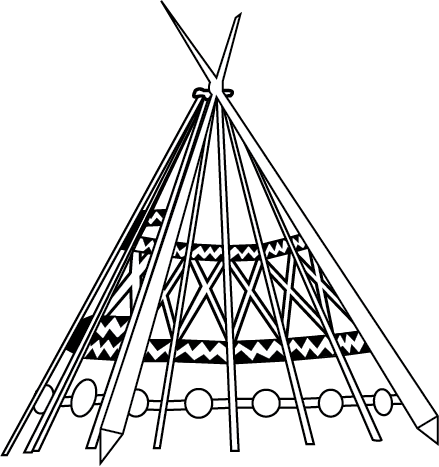 Tipi drawing tepee. Collection of free teepee
