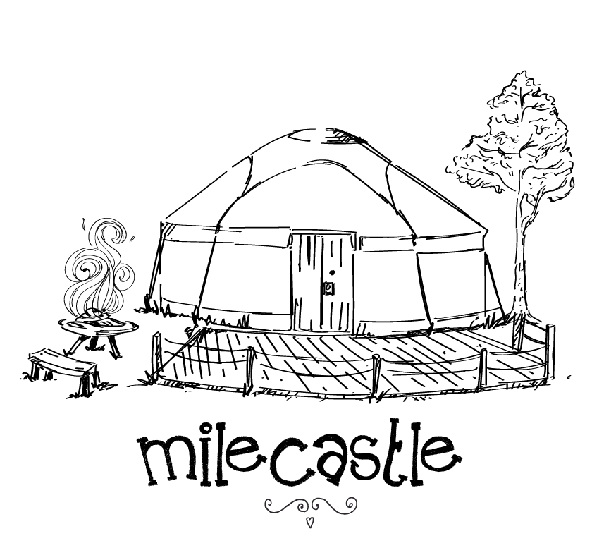 Wigwam drawing yurt. Milecastle cloudhouse glamping is