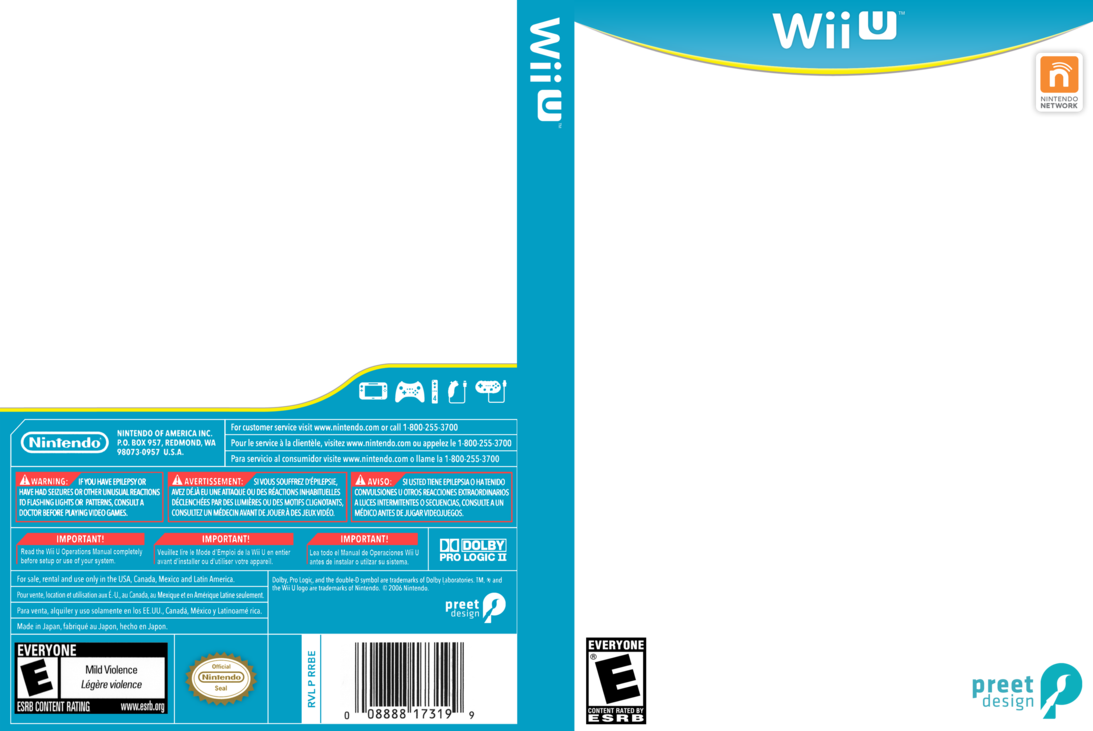 Wii games png. U box art template