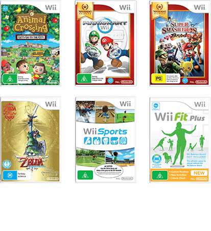 Wii games png. U from nintendo official