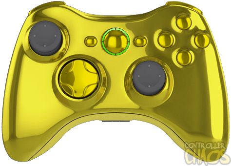 Wii transparent modded. Chrome gold controller xbox