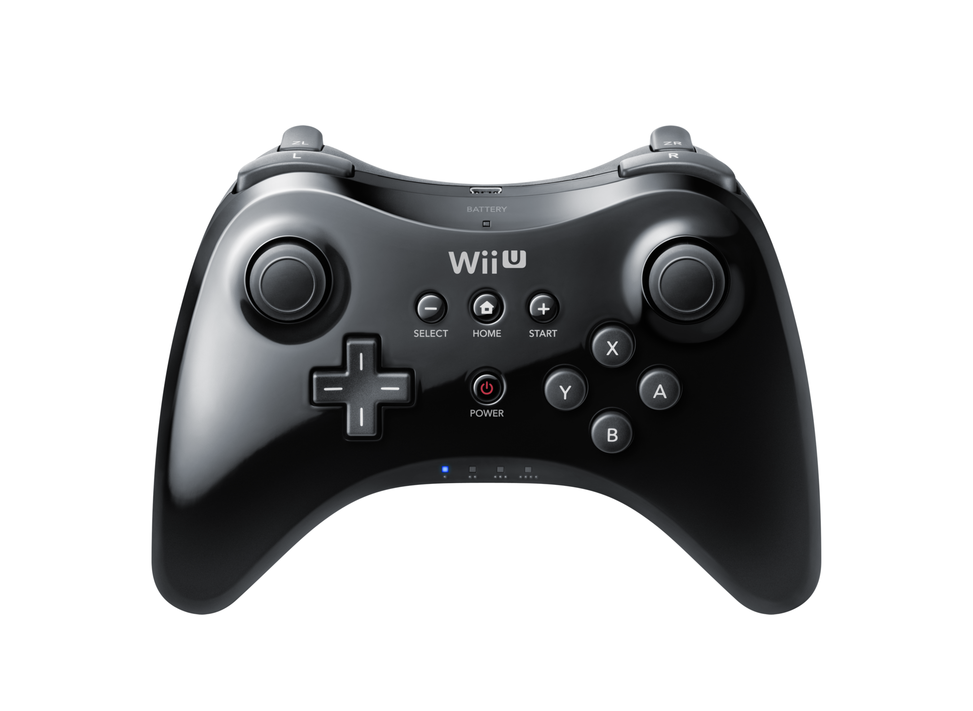 Image pro black nintendo. Wii u controller png vector black and white library