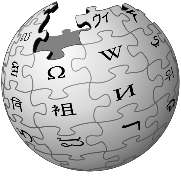 Wikipedia logo free down. Wiki vector banner royalty free download