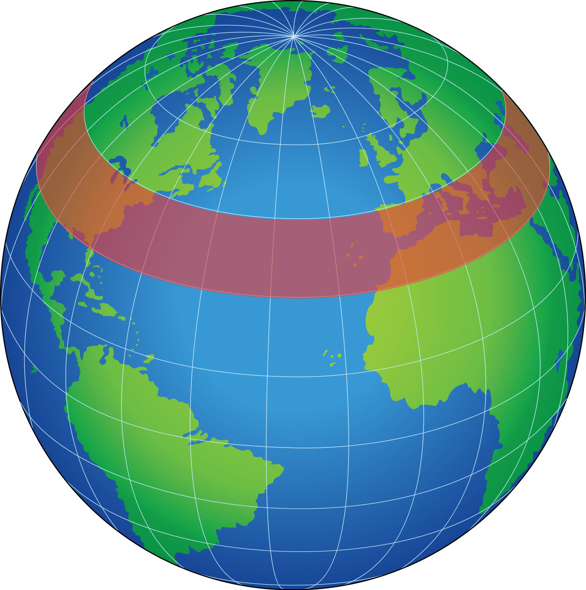 Wikipedia transparent earth. Zonal and meridional