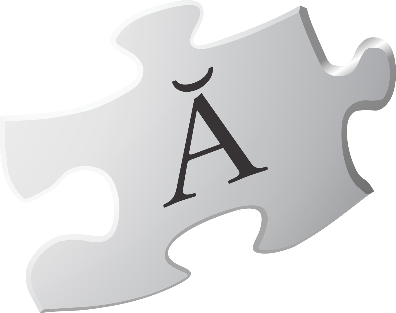 Puzzle transparent logo. File wikipedia v piece