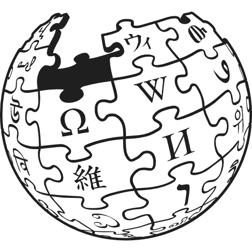 Vector wikipedia icon. Logotype of earth puzzle