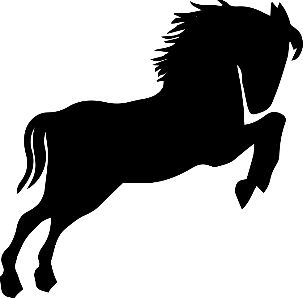 Black silhouette looking to. Wild horse png vector transparent download