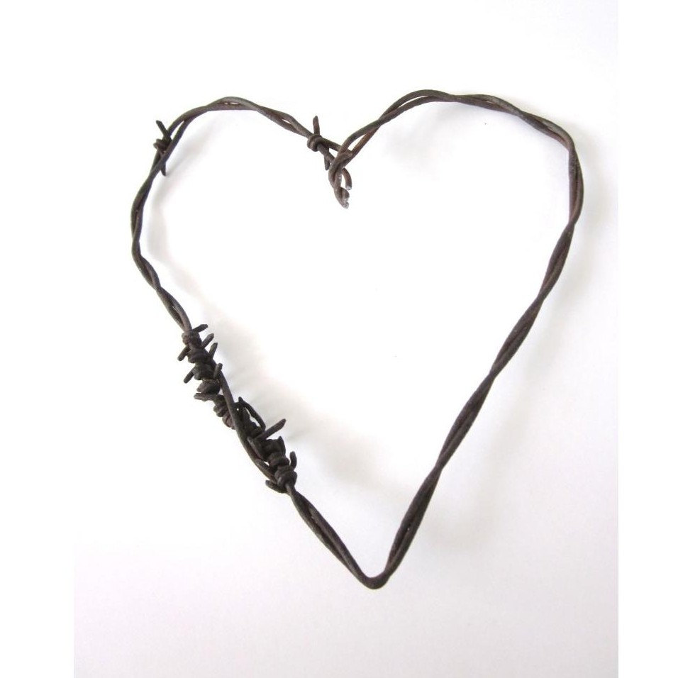 Wild west clipart barbed wire. Rusty heart the mended