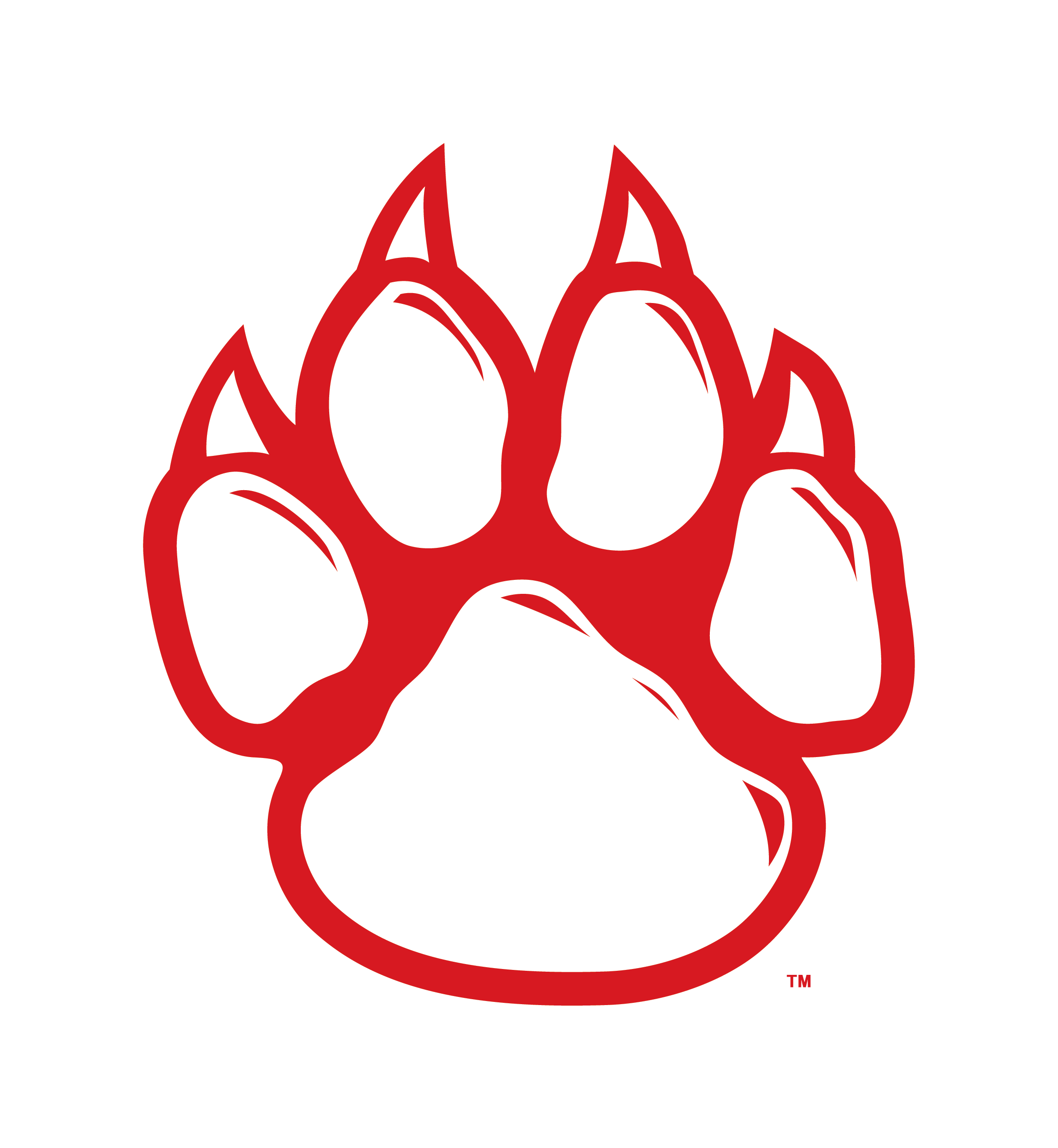 Transparent scratches paw. Free wildcat print download