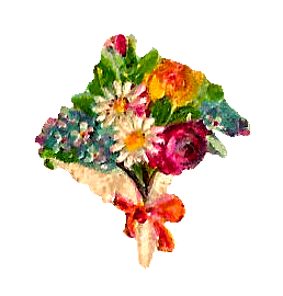 Wildflower bouquet png. Antique images flowers rose