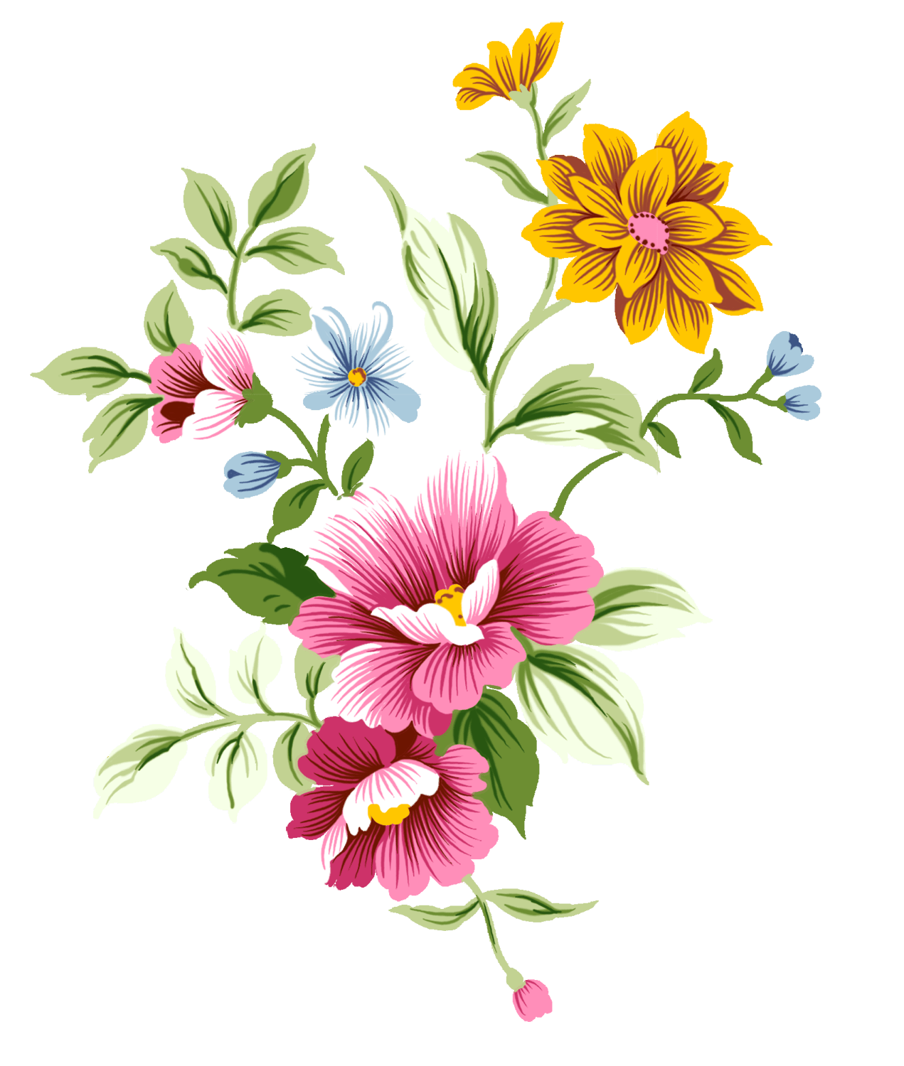 Art nouveau bouquet stickpng. Flowers transparent png graphic freeuse download